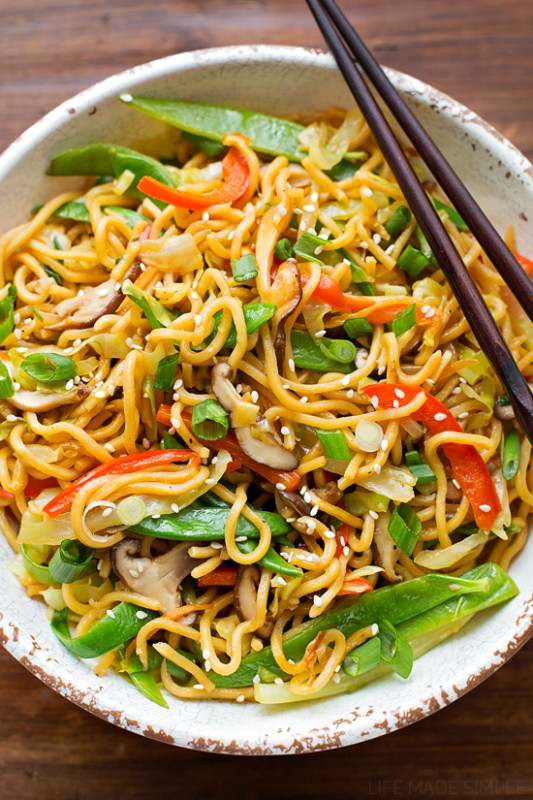 Vegetable Ramen Stir Fry - Life Made Simple - ramen recipes vegetarian