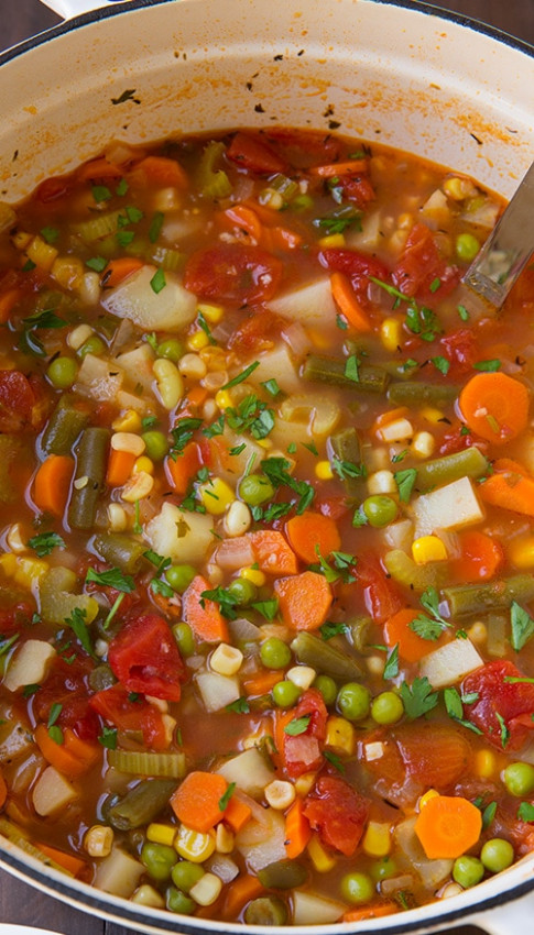 Vegetable Soup - Cooking Classy - Healthy Soup Recipes Vegetarian