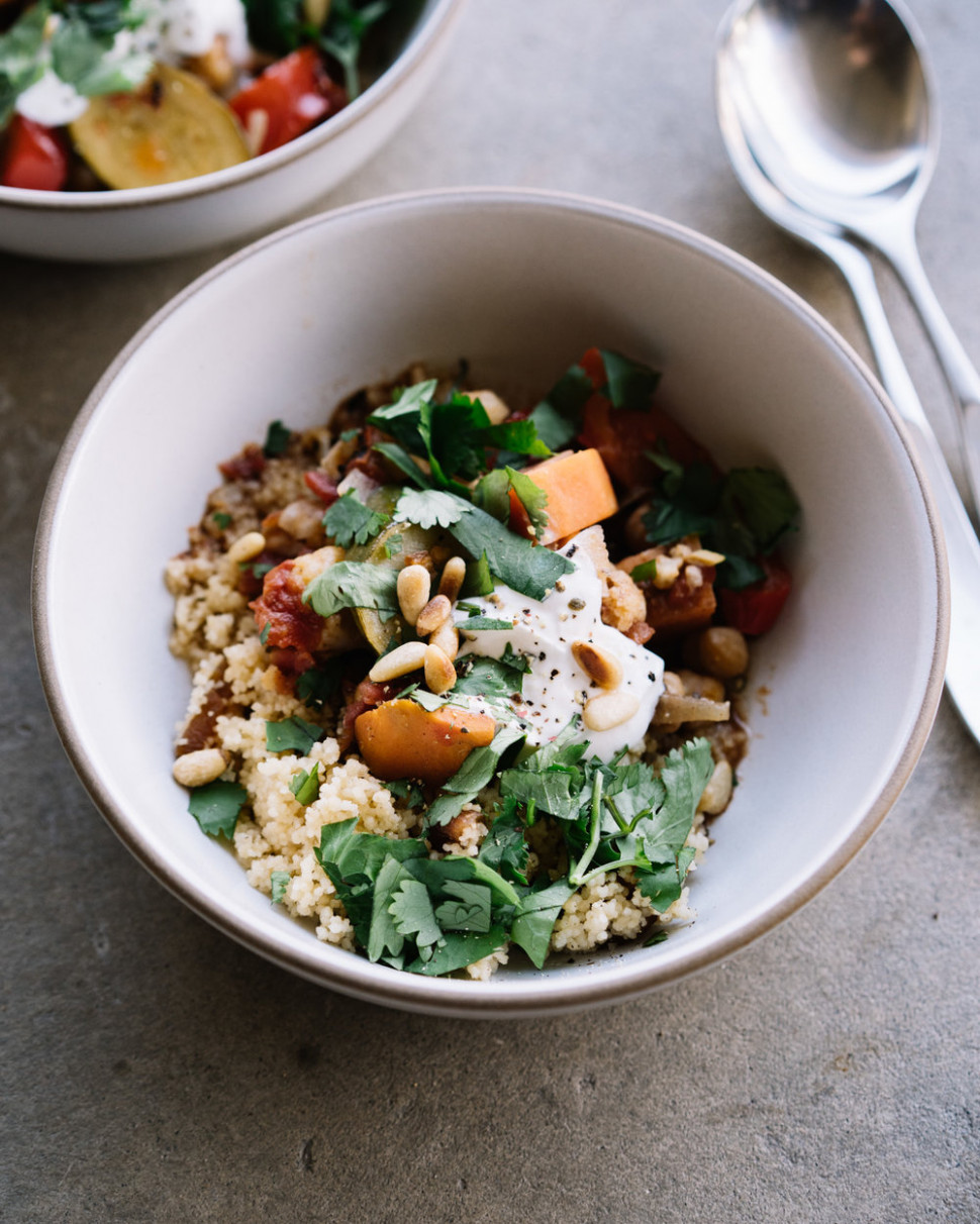 Vegetable Tagine With Apricot Couscous - Tagine Recipes Vegetarian
