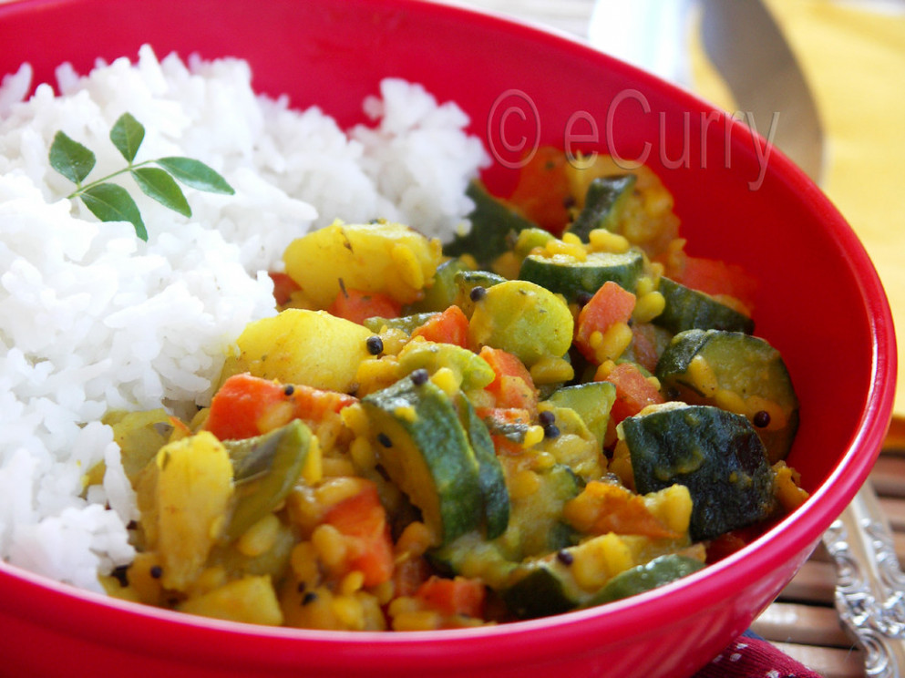 Vegetables & Lentils with Ground Spices - healthy recipes on a budget