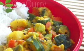 Vegetables & Lentils With Ground Spices – Healthy Zucchini Recipes Side Dish