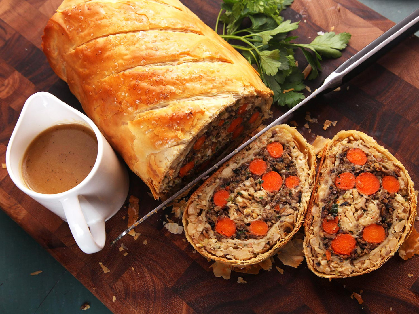 Vegetables Wellington (The Ultimate Vegan Plant-Based Holiday Roast) Recipe - vegetarian recipes oven
