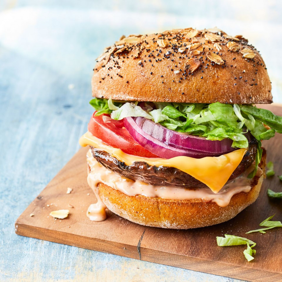 Vegetarian All American Portobello Burgers - Recipes Vegetarian Burgers