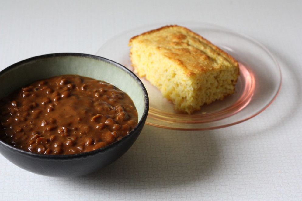 Vegetarian Baked Beans and Cornbread - recipes vegetarian baked beans