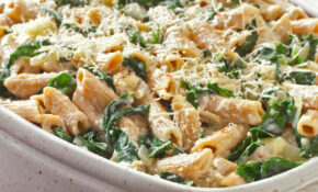 Vegetarian Baked Pasta With Cheese And Spinach Recipe – Recipes Vegetarian Dinner