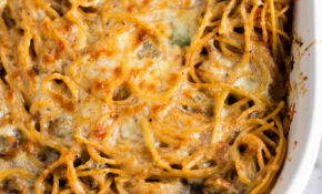 Vegetarian Baked Spaghetti Recipe – Build Your Bite – Delicious Recipes Dinner