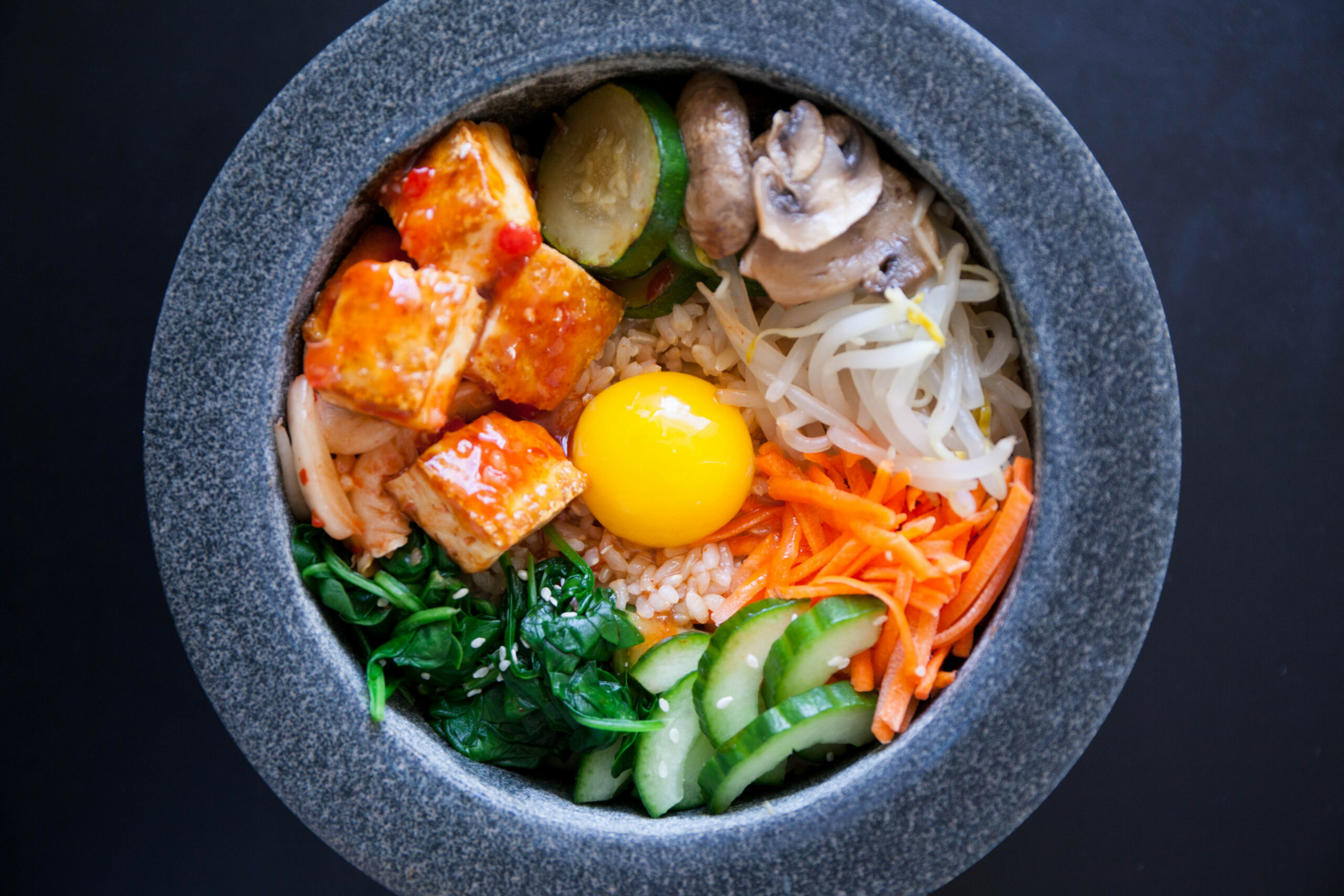 Vegetarian Bibimbap — My Healthy Dish - healthy recipes korean