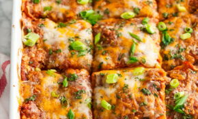 Vegetarian Black Bean Enchilada Casserole – Aberdeen's Kitchen – Recipes Vegetarian Casseroles