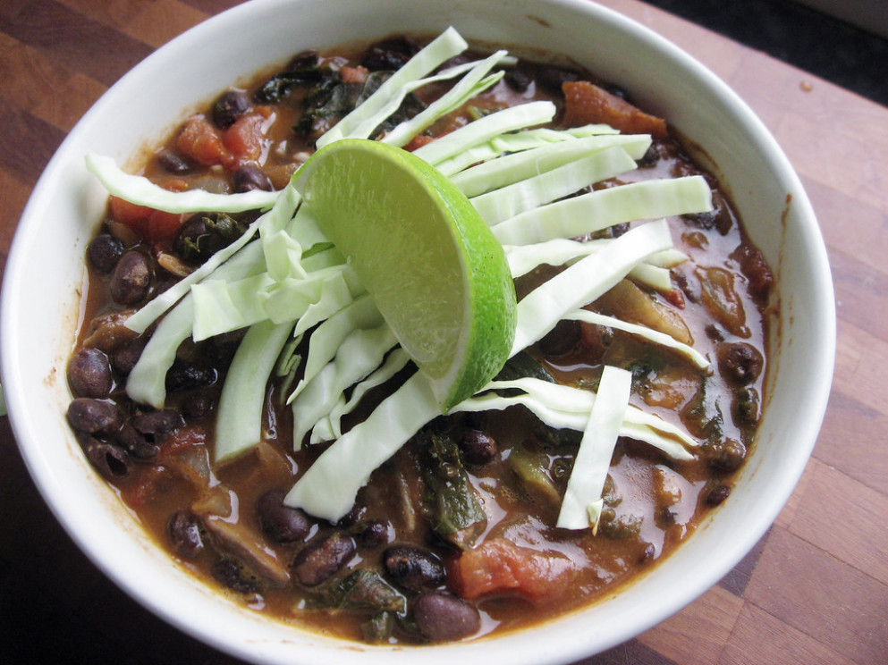 Vegetarian Black Bean Soup - recipes butter beans vegetarian