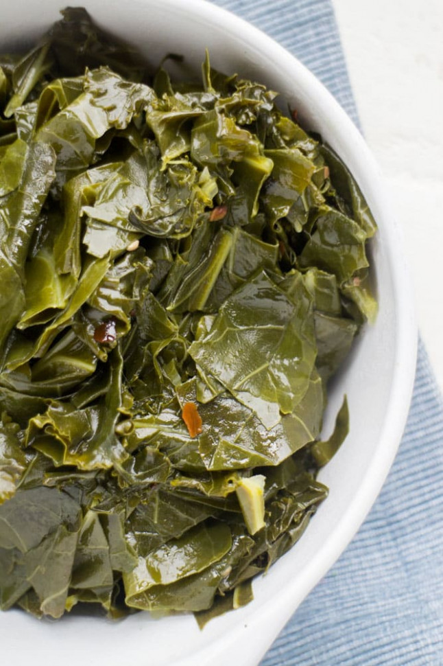 Vegetarian Brown Sugar Collard Greens - Brooklyn Farm Girl - recipes collard greens vegetarian