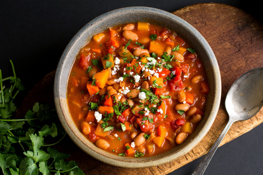 Vegetarian Chili With Winter Vegetables - The New York Times - recipe vegetarian dishes