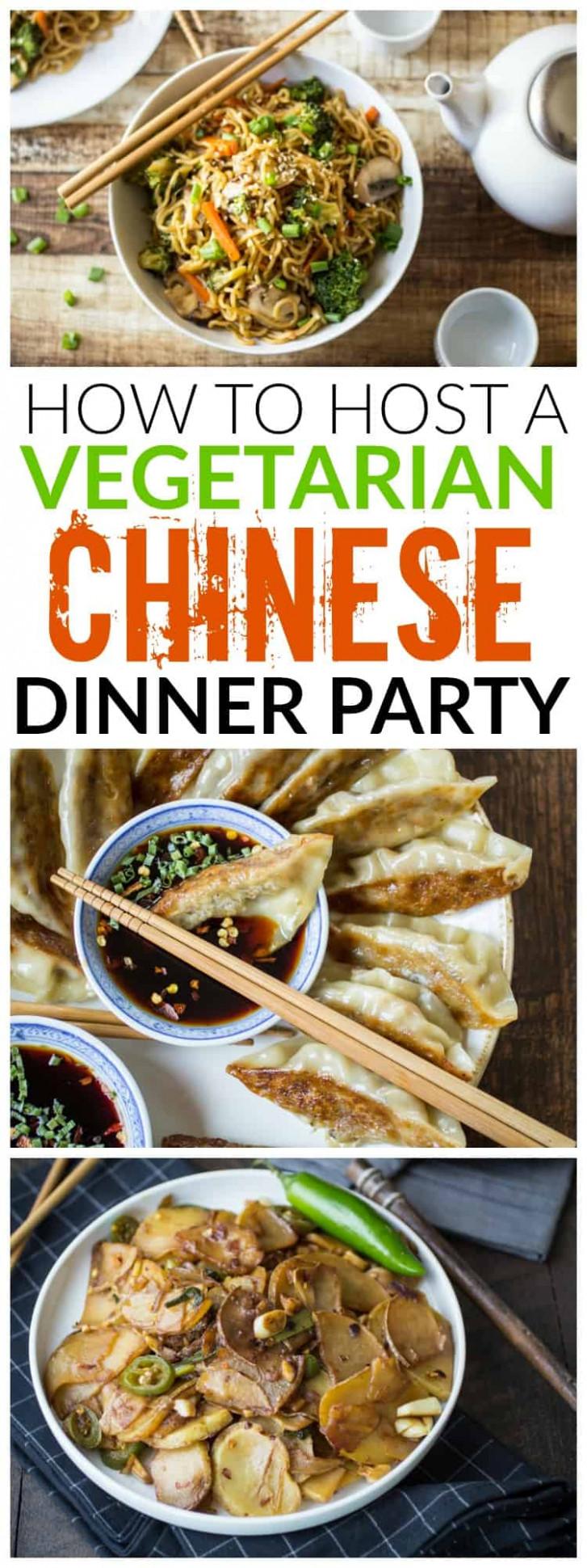 Vegetarian Chinese Dinner Party Menu - The Wanderlust Kitchen - recipes vegetarian dinner party