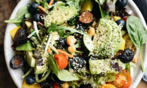 Vegetarian Chopped Salad With Dried Figs And Avocado ..
