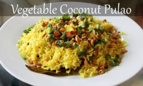 Vegetarian Coconut Rice Recipe | Quick & Easy Indian Lunch ..