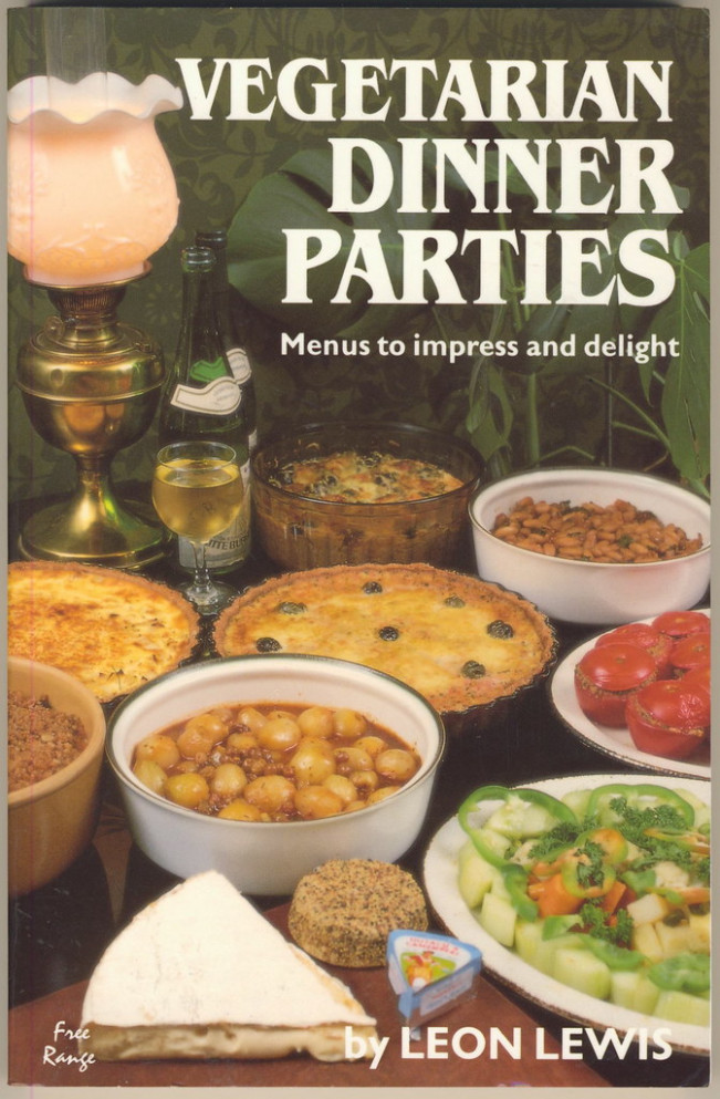 Vegetarian Dinner Parties 1990 by Leon Lewis - recipes vegetarian dinner party