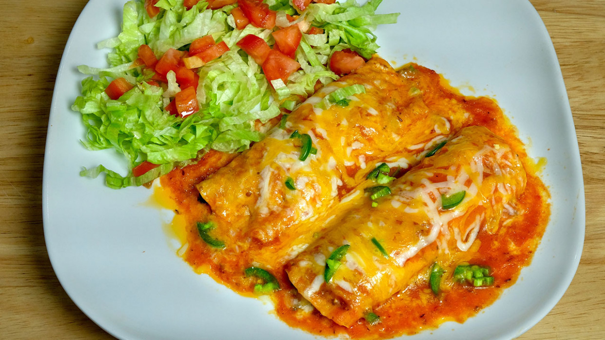 Vegetarian Enchiladas (Mexican Cuisine) - Quick Indian Food Recipes