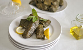 Vegetarian Grape Leaves (Dolmades) Recipe — Dishmaps – Recipe Vegetarian Grape Leaves