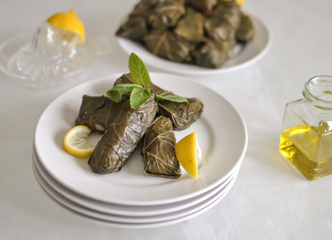 Vegetarian Grape Leaves (Dolmades) Recipe — Dishmaps - recipe vegetarian grape leaves