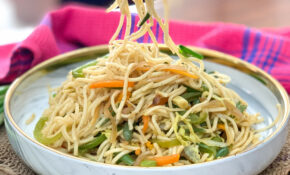 Vegetarian Hakka Noodles  Chinese Chow Mein Recipe – Noodle Recipes Vegetarian