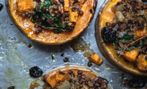 Vegetarian Holiday Stuffed Squash (V, GF) | My Goodness Kitchen – Vegetarian Xmas Main Course Recipes