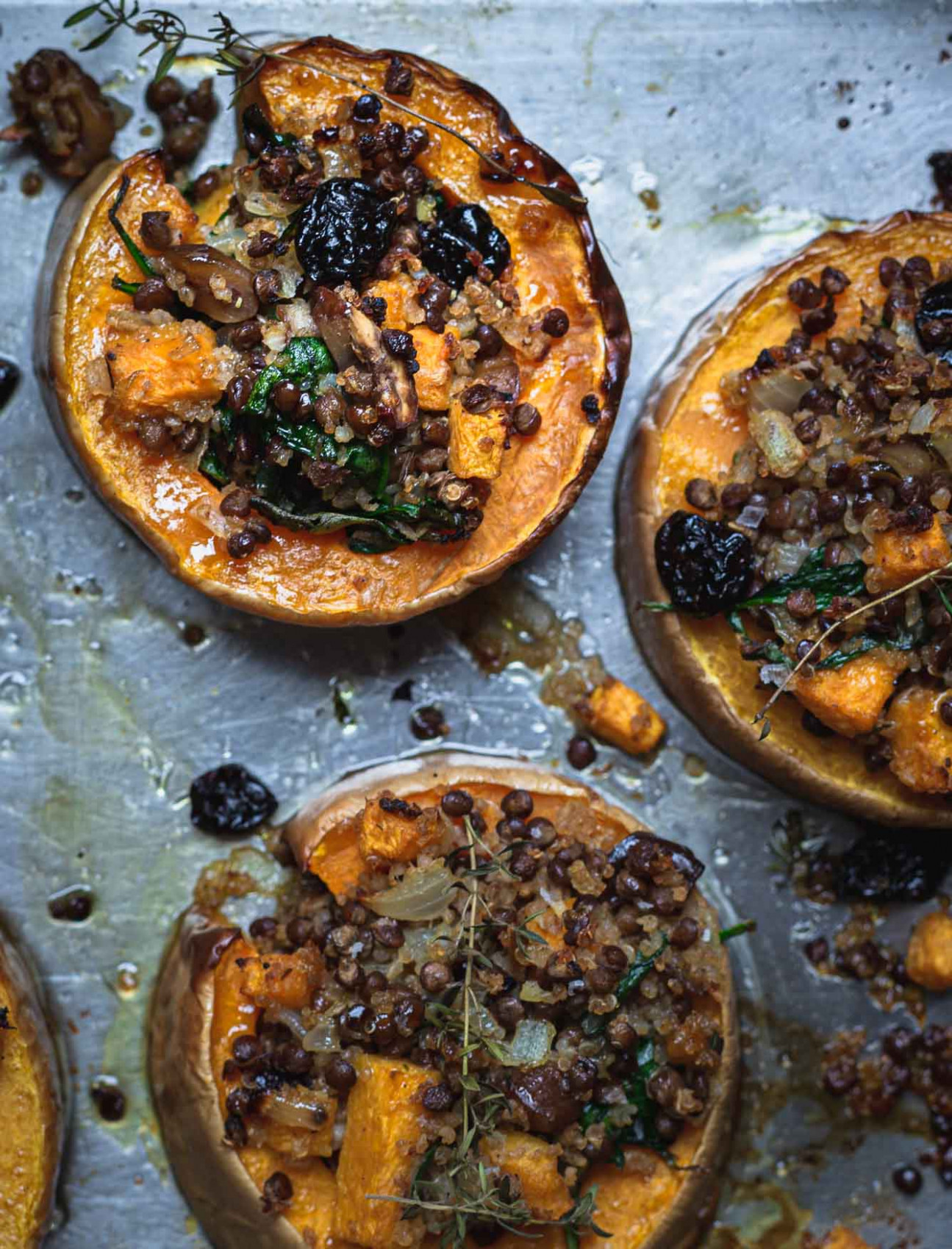 Vegetarian Holiday Stuffed Squash (V, GF) | My Goodness Kitchen - vegetarian xmas main course recipes
