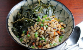 Vegetarian Hoppin' John With Braised Collard Greens Recipe ..