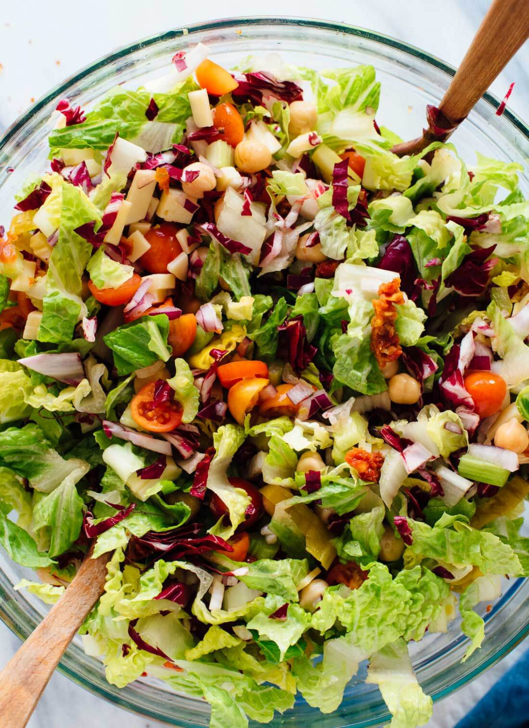 Vegetarian Italian Chopped Salad - Cookie and Kate - lettuce salad recipes vegetarian