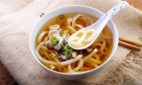 Vegetarian Japanese Udon Noodle Soup Recipe