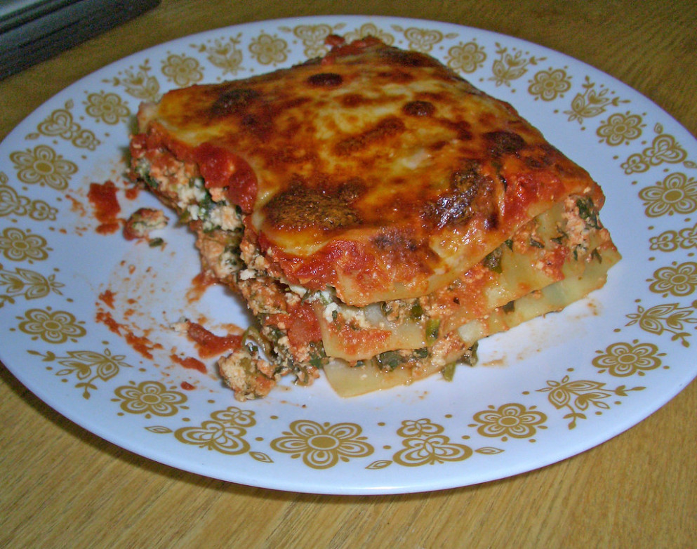 Vegetarian Lasagna - Delicious Vegetarian Recipes Dinner