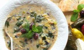 Vegetarian Magiritsa (Greek Easter Soup) For #SundaySupper – Greek Vegetarian Recipes