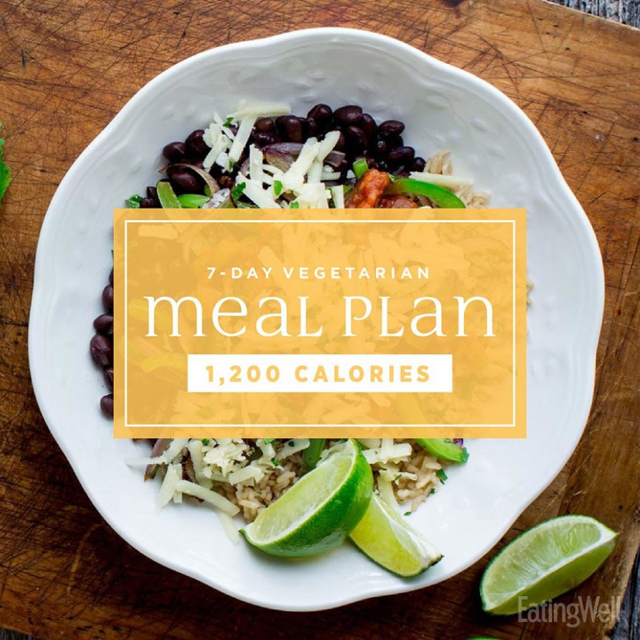 Vegetarian Meal Plan: 10,10 Calories | EatingWell - recipes menu vegetarian