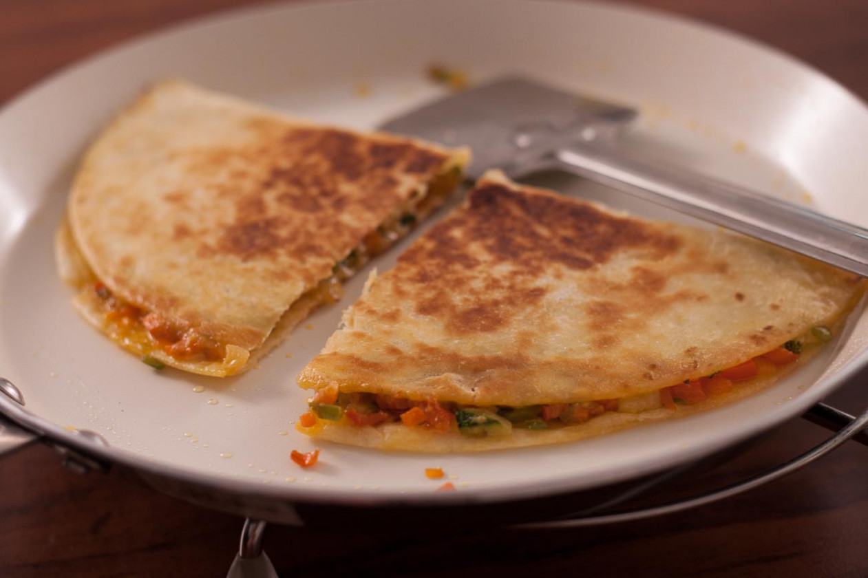 Vegetarian Mexican Quesadilla Recipe by Archana's Kitchen - mexican recipes vegetarian
