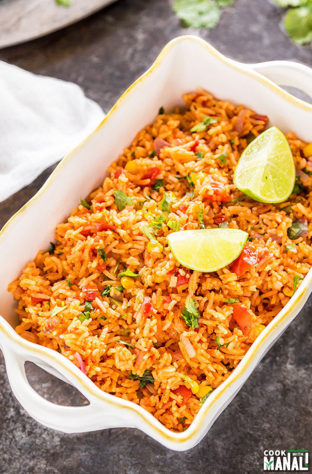 Vegetarian Mexican Rice - Cook With Manali - recipes easy vegetarian rice