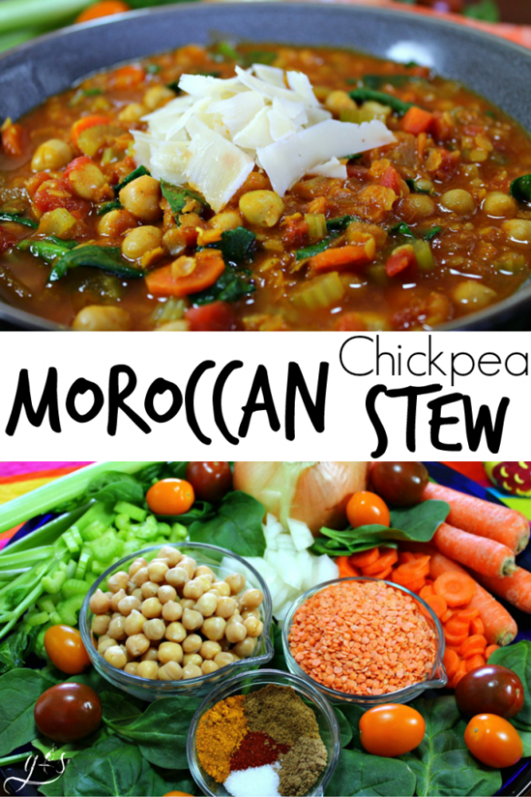 Vegetarian Moroccan Chickpea Stew – Grounded & Surrounded - recipes chickpeas vegetarian