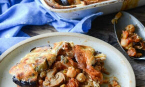 Vegetarian Moussaka With Aubergine, Lentils, Mushrooms ..