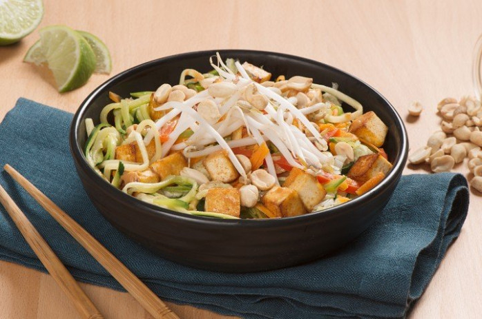 Vegetarian Pad Thai-Inspired Zoodle Recipe - zoodle recipes vegetarian