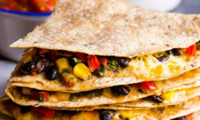 Vegetarian Quesadilla Recipe – IFOODreal – Healthy Family ..