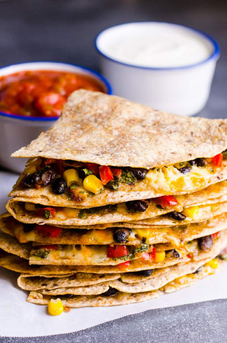 Vegetarian Quesadilla Recipe - iFOODreal - Healthy Family ..