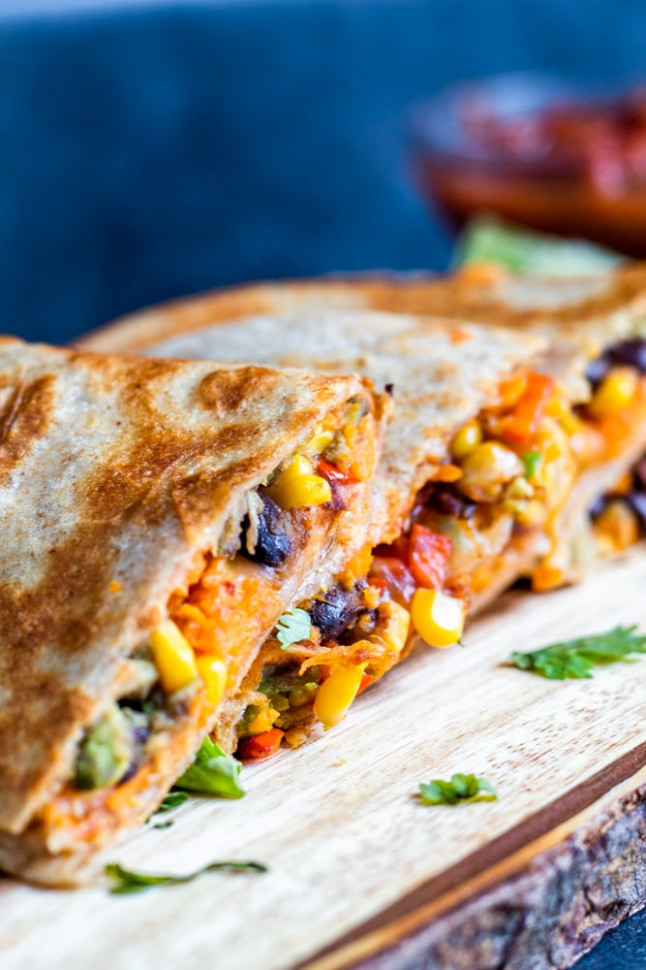 Vegetarian Quesadillas with Black Beans and Sweet Potato ..