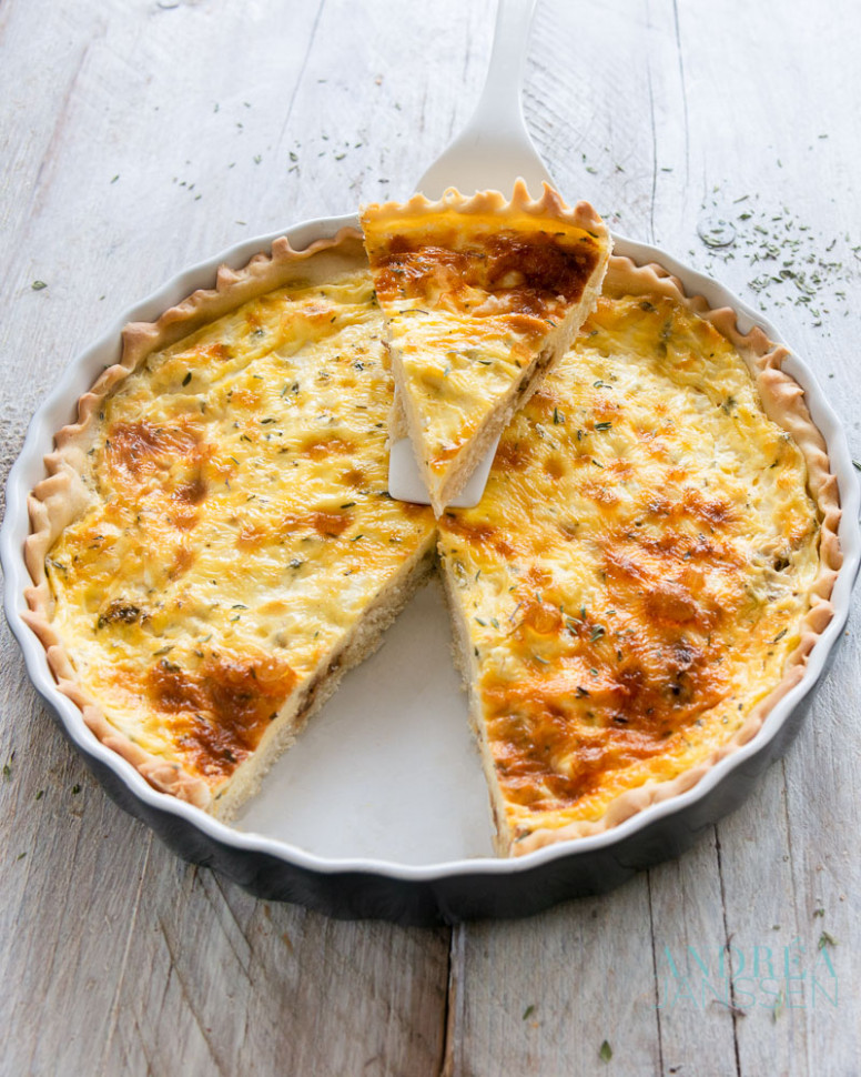 vegetarian quiche with shallot and goat cheese - quiche recipes vegetarian