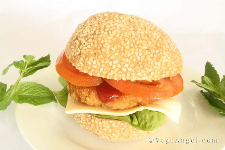 Vegetarian Recipe: Hamburger Buns | Vege Angel - Recipe Vegetarian Hamburger