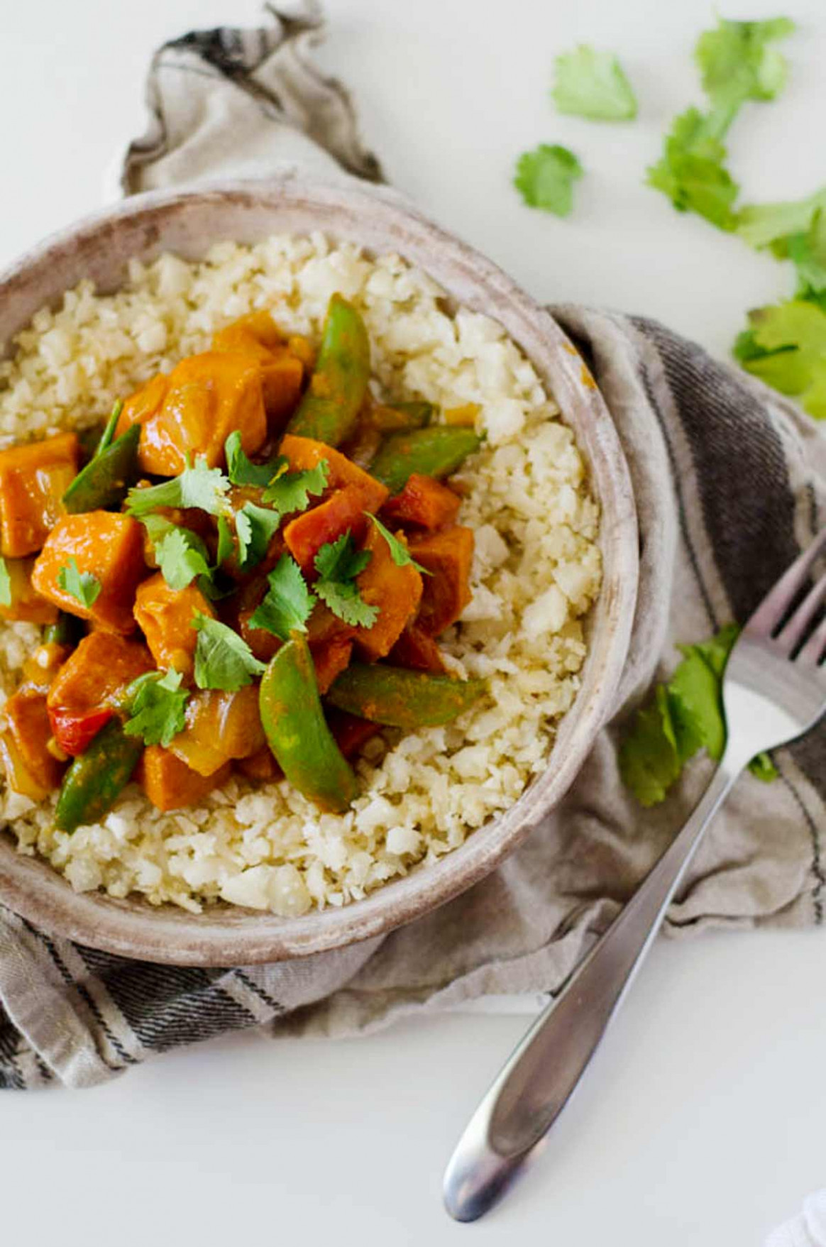 Vegetarian Red Curry Stir Fry - recipe vegetarian red curry