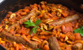 Vegetarian sausage casserole - Amuse Your Bouche