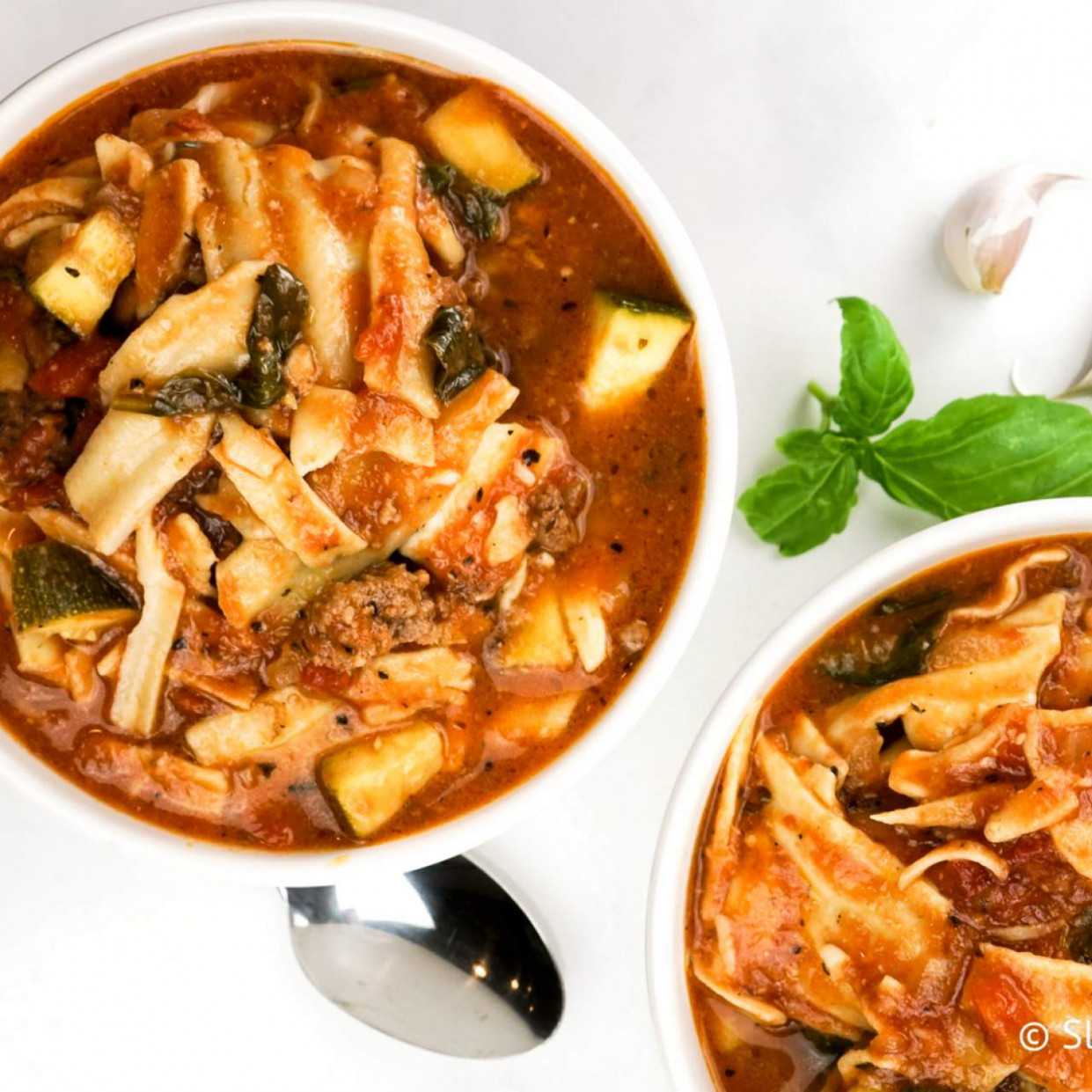 Vegetarian Slow Cooker Lasagna Soup - recipes for slow cooker vegetarian
