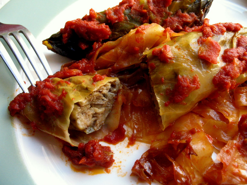 Vegetarian Stuffed Cabbage – Not Eating Out In New York - Recipes With Cabbage Vegetarian