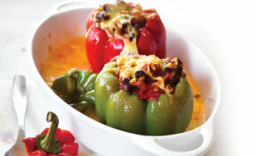 Vegetarian stuffed capsicums
