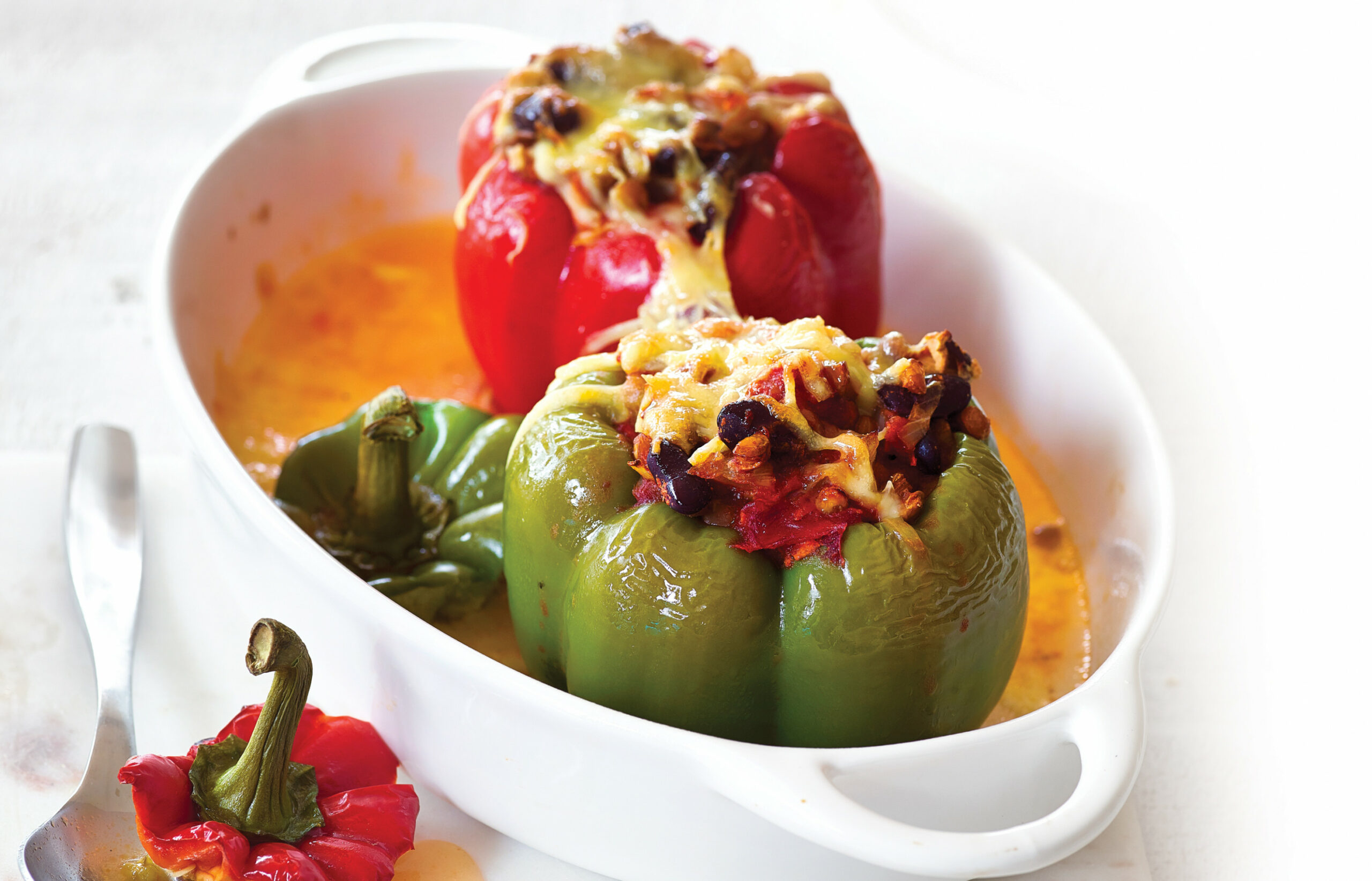 Vegetarian Stuffed Capsicums - Recipes Stuffed Peppers Vegetarian