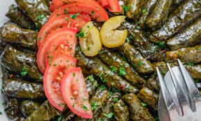 Vegetarian Stuffed Grape Leaves Recipe | LEBANESE RECIPES – Recipe Vegetarian Grape Leaves