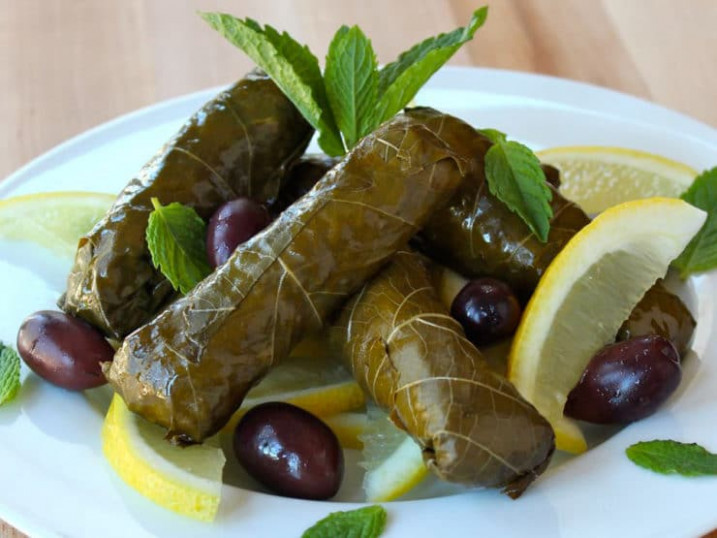 Vegetarian Stuffed Grape Leaves - recipe vegetarian grape leaves