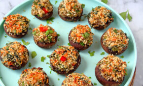 Vegetarian Stuffed Mushrooms | Simple Stuffed Mushroom ..